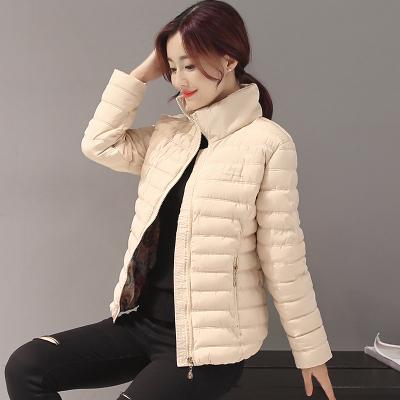2016秋冬新品时尚轻薄羽绒棉服女短款修身学生百搭棉衣