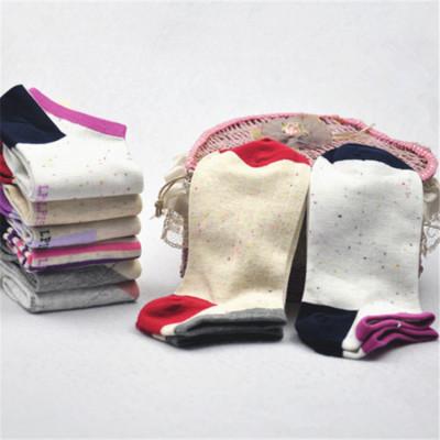 女士春夏秋季女袜 女纯棉短筒船袜 混款混色薄款透气船袜 12双装