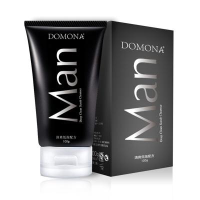 多美娜 男士洗面奶 深层净化磨砂洁面乳 低泡配方 磨砂触感 洗脸香皂