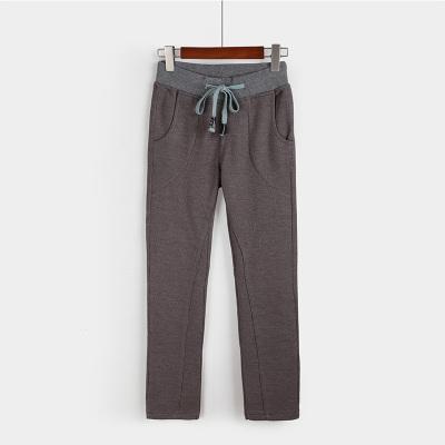 思源服饰 纯色纯棉针织提花学生装长裤T6262