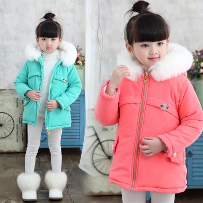 2016女童冬装外套新款儿童公主冬季棉衣中长款棉服女大童加厚棉袄