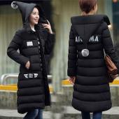 韩美2016冬季新款韩版胖MM中长款过膝羽绒棉服女修身显瘦sep601#20