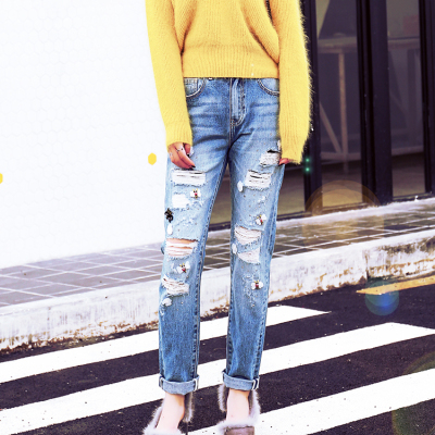 graffio 时尚破洞牛仔裤 WG50