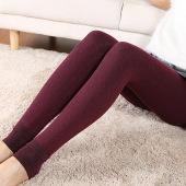 秋冬加绒加厚打底裤女高腰显瘦大码长裤踩脚外穿保暖裤