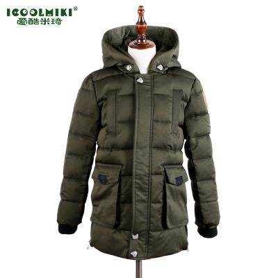 ICOOLMIKI男童棉衣中长款外套2016冬装新款童装中大童潮儿童加厚保暖棉袄MK1073