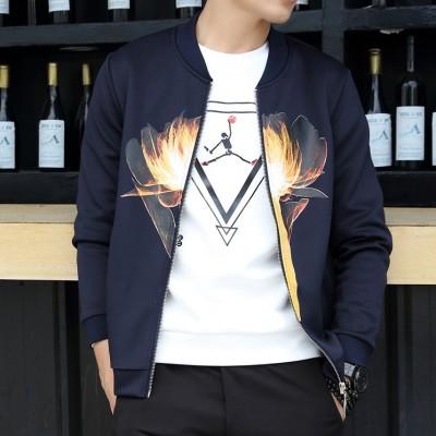 春季新款潮外套韩版修身卫衣男士棒球服情侣开衫薄新款