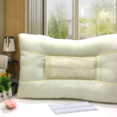 枕梦园 荞麦健康枕头 保护劲椎聚酯纤维
