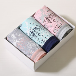 WIDECOTTON 内裤组合套装3条装青春系列中腰三角裤 7005