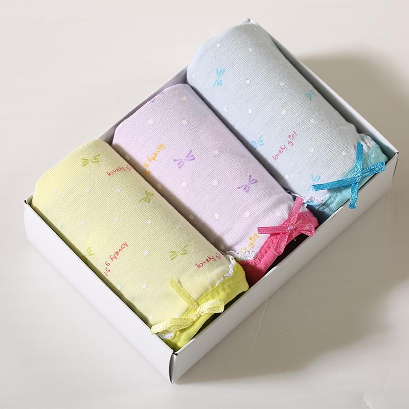 WIDECOTTON 内裤组合套装3条装青春系列中腰三角裤 6008