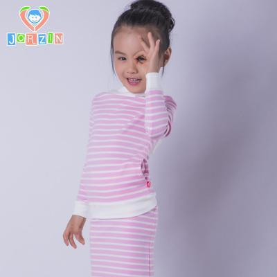 峤心 2017春新款纯棉潮儿童两件套有机棉a类粉红间色女裙