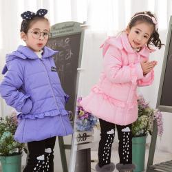 2017女童冬装外套新款儿童公主冬季棉衣中长款棉服女大童加厚棉袄