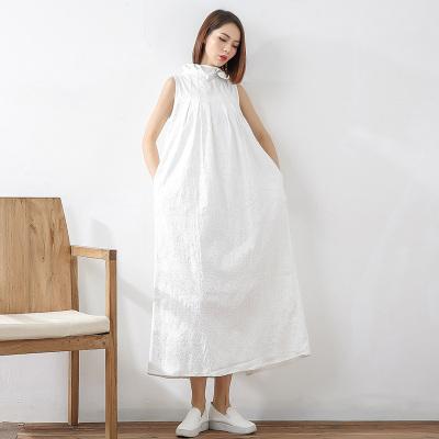 即布简雅阔版提花连衣裙1711008
