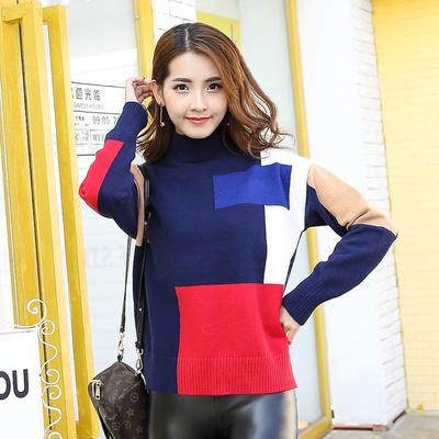 2017春秋装新款时尚拼接毛衣 202#