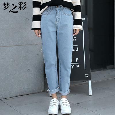 梦之彩 高腰牛仔裤 3103