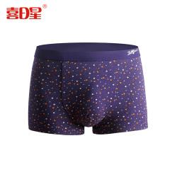 """喜日星 <span class=""""gcolor"""">男士內褲</span>莫代爾一件代發品牌盒裝平角褲彈力透氣中腰四角褲頭 x4303"""