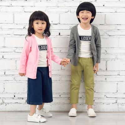 叻叻小星男女童纽扣单开衫  X9052