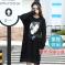 J.S.YU 2017春新款韩版时尚潮流纯色米老鼠套头中长款卫衣   JS6070