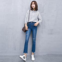 梦之彩 2017春夏新品韩版女潮弹力微叭裤 32683