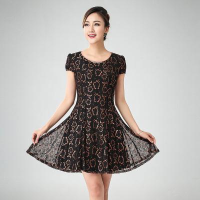 丝缔曼女装夏装中袖中年妇女妈妈装连衣裙 连衣裙 62050