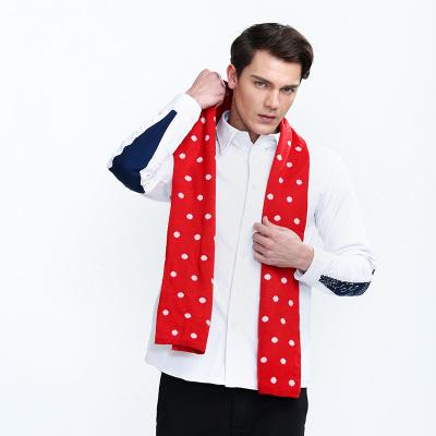 KBB 2017新款男士年轻冬天圆点双色双面巾百搭 KBBYTLY060053001