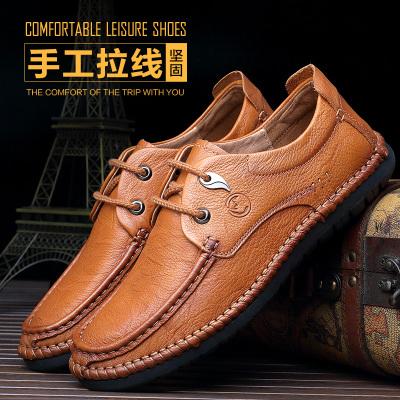 美犀鞋业 英伦时尚透气头层牛皮男士皮鞋 2182663W 2182664W