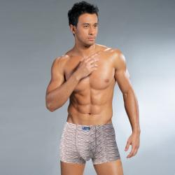 尚康玛 热销竹纤维男士内裤性感豹纹印花平角裤3条礼盒装 SK561