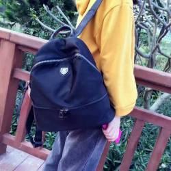 """芙格9158<span class=""""gcolor"""">尼龙</span>布配头层牛皮 时尚款 简约背包"""