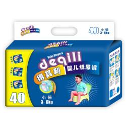 得其利 小码40片透气底膜反边防漏尿裤 DQL620