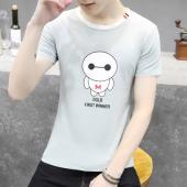 阁调 2017夏季学生卡通短袖t恤男士大码上衣韩版青少年半袖潮流男装   3017