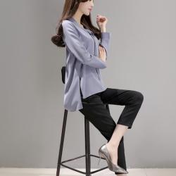 """布桂坊2017春季新款韩版修身新款套装<span class=""""gcolor"""">两件套</span>时尚套装"""