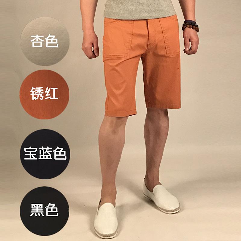 基本演绎 男式2017春夏新款休闲短裤...
