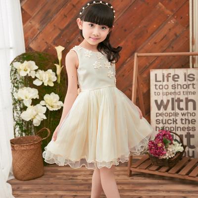 韩版童装 中大女童夏季纯棉雪纺公主连衣裙 小女孩裙子一件代发