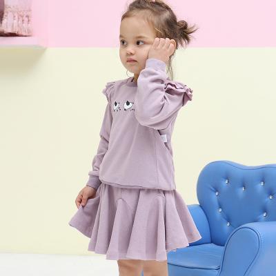 亲贝娃 2017新款纯色休闲荷叶边半身裙 QG8011
