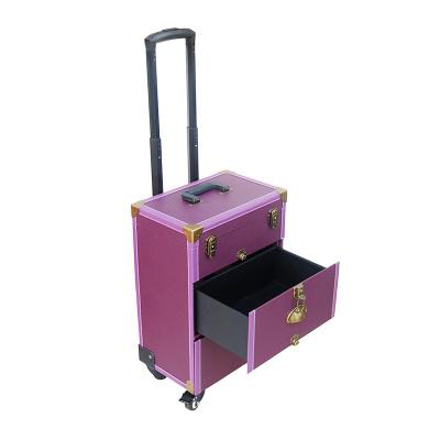 专业拉杆箱可拆抽屉美甲美容跟妆彩妆纹绣万向轮多层大容量工具箱