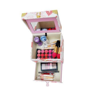 专业大容量化妆手提多层美容双开美甲纹绣彩妆工具箱