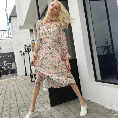 DC服饰 2017新款时尚气质碎花连衣裙 DCHTSS1735061