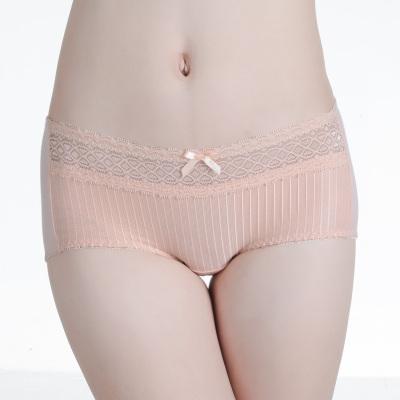 尚康玛4条礼盒女士内裤天竹性感蕾丝花边提臀平角裤 S3088