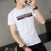 达昇 2017夏季韩版男士短袖简约休闲风印花T恤男士圆领修身百搭打底衫Tc051