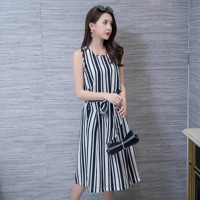 蕾芭格 2017夏装新款休闲裤两件套韩版夏季时尚连衣裙女气质潮1713