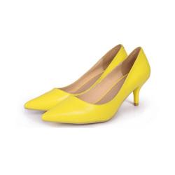 "JustMe 2017新款时尚尖头细跟女<span class=""gcolor"">高跟鞋</span> 65732-1"