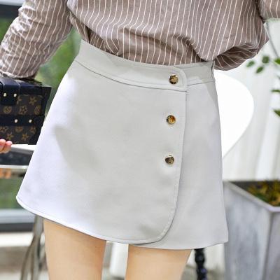 丹妮雅 2017春季新款韩版短裤女拉链百搭休闲裤A字阔腿裤夏外穿 2376