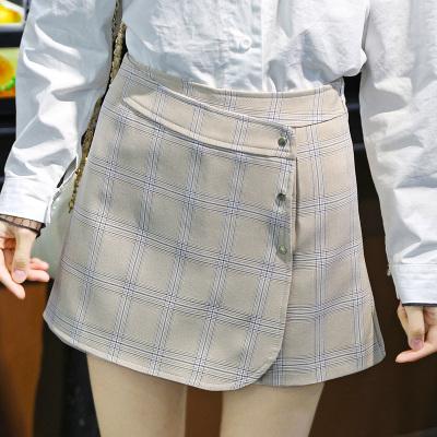 丹妮雅 2017夏季新款韩版高腰A字阔腿短裤女外穿宽松显瘦带3颗扣 2380