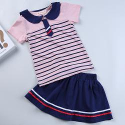 """优优小鱼 新款女童上衣短裙<span class=""""gcolor"""">两件套</span> KM8012"""