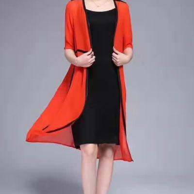 欧衣尚 2017春夏欧美时尚潮流原创设计风格记忆丝披风薄外套
