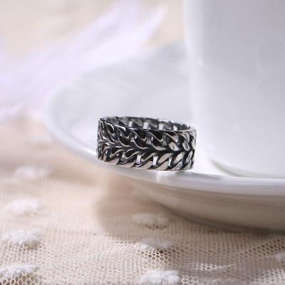 S925纯银手工扭线编织双层个性百搭开口戒指男女