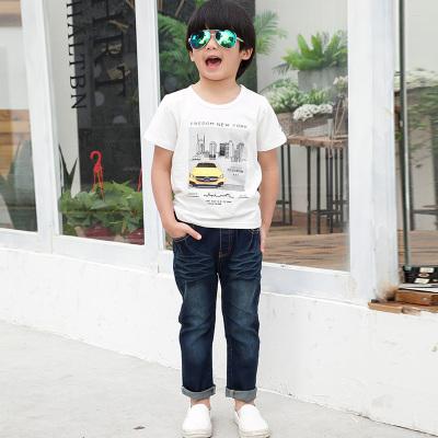 健博贝儿 2017童装男童夏装套装新款韩版儿童夏季牛仔两件套TZ1219