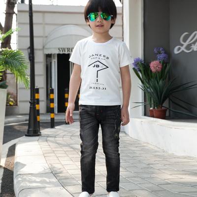 健博贝儿 2017童装男童夏装套装新款韩版儿童夏季牛仔两件套TZ1410