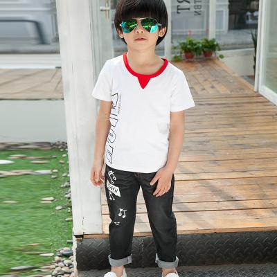 健博贝儿 2018童装男童夏装套装新款韩版儿童夏季牛仔两件套TZ1805