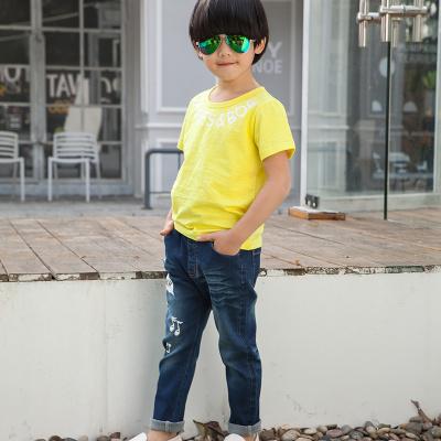 健博贝儿 2017童装男童夏装套装新款韩版儿童夏季牛仔两件套TZ1105