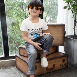 健博贝儿 2018童装男童夏装套装新款韩版儿童夏季牛仔两件套TZ1707